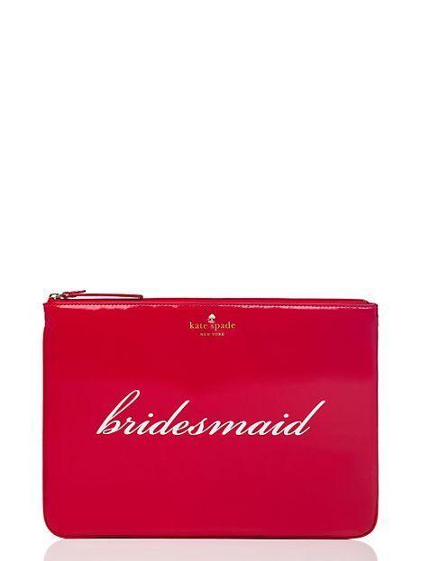 Kate Spade Bridesmaid Wedding Belles Gia Cosmetic Pouch Pwru2780 Ebay
