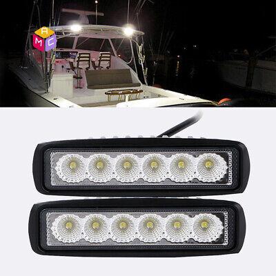 2pkLED Pontoon Boat Docking LightBright White Marine Boat Light12V