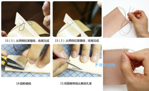 18pcs 3size Leathercrafts Sew Stitch Triangular Needles Tool Canvas Fur Knitting