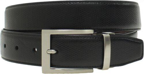 NWT Swiss Gear Mens Faux Snake Skin Reversible Belt Black Brown