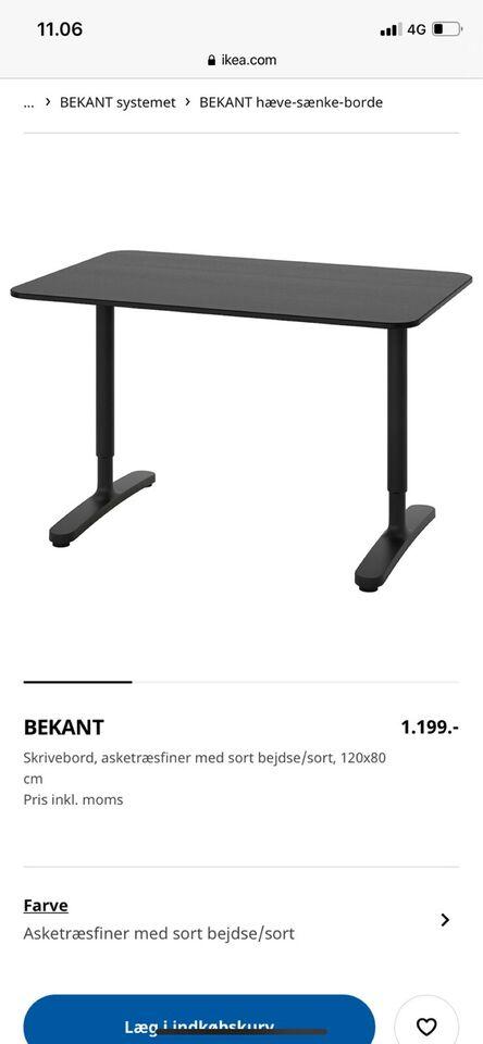 Skrivebord, IKEA, b: 120 d: 80