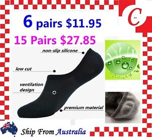 Men-Women-Bamboo-Non-slip-Heel-Grip-Low-Cut-No-Show-Socks-Footlet-Invisible