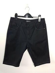 Guess-Jeans-Black-Denim-Shorts-Women-039-s-Size-W-30-Mid-Thing-Skinny-Leg-Stretch