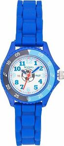 TIKKERS-BOYS-TIME-TEACHER-WHITE-DIAL-BLUE-SOFT-STRAPS-WATCH-FOOTBALL-XMAS-GIFT