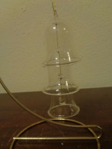 Vintage Glass 3 Tier Bell Gratuated Chime Christmas Ornament