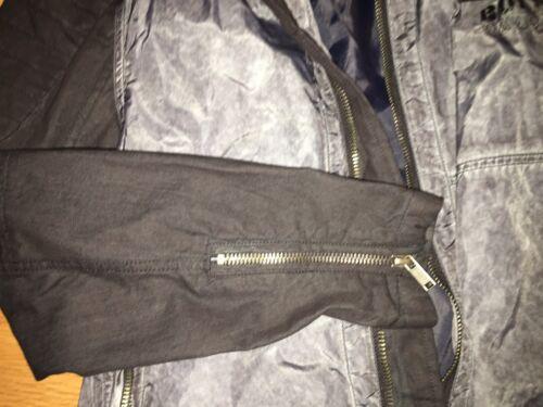 Buffalo David Bitton Men/'s Jawick Nylon//Cotton Moto Black Gray Jacket  M