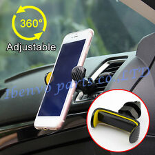 """Yellow Car Air Outlet 360 Adjustable Rotatable 3.5"""" to 5.5"""" Mobile Phone Holder"""