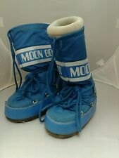 Tecnica sky blue Moon Boots Size EU 35-38  US 7 Winter Shoes Footwear