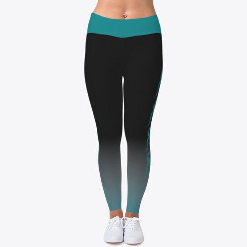 Ovarian Print Women's Stretch leggings Yoga Fitness Pants Leggings Cancer ptq4xwfrp