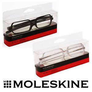 4b359d9f823d Image is loading Moleskine-Reading-Black-Transparent-Frame-Symmetrical- Glasses-1-