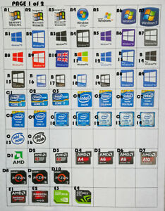Details about 10x sticker label Windows XP 7 8 10 ryzen amd intel office  linux for pc laptop