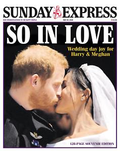 Meghan Markle /& Prince Harry The Express Newspaper 20//5//18 ROYAL WEDDING UK