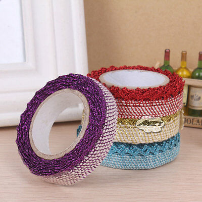 Color Lace Roll Decor Self Adhesive Masking Washi Tape Sticky Paper Sticker DIY