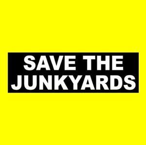 Funny Save The Junkyards Window Decal Rat Rod Sticker Bumper