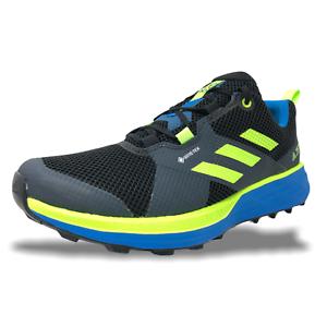 Details about Adidas Terrex Two Gore-Tex Men Trail Running Waterproof Shoe Black/Green FV8102