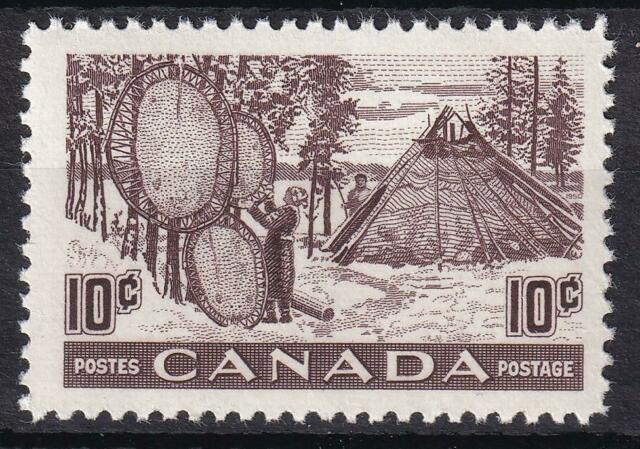 Canada 1950 Drying Skins 10c Fur Resources, MNH sc#301