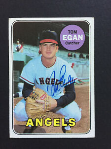 Tom-Egan-Angels-signed-1969-Topps-baseball-card-407-Auto-Autograph