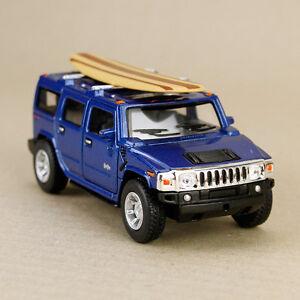2008-Blue-Hummer-H2-SUV-Surfboard-1-40-scale-12cm-Diecast-Model-Car-Pull-Back