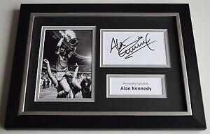 Alan-Kennedy-Signed-A4-FRAMED-photo-Autograph-display-Liverpool-Football-amp-COA