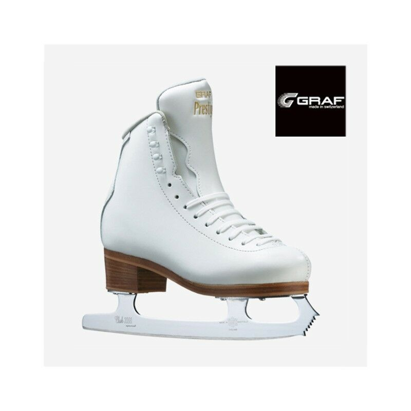 Graf  Prestige   White Leather Boot Club 2000 Blades for Ice Figure Skating NEW  on sale