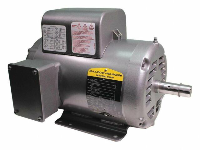 Baldor L1322T General Purpose AC Motor Single Phase 145t Frame Open on