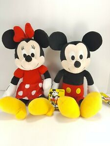 Minnie-Mouse-amp-Mickey-Mouse-Plush-Stuffed-Animal-90-Years-Kohls-Cares-NEW-13-034
