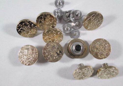 Jeans botón 10 trozo con remacha oro botones 18 mm #569#
