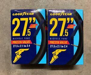 "2.125"" NEW Lot Of 2 Goodyear 27.5"" Presta Valve Bicycle Tube 27.5/"" X 1.75"""