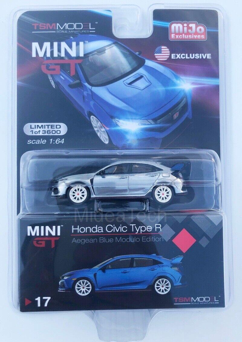 compra limitada Mini GT 1 64 2017 Honda Civic Type R R R (FK8) Módulo (LHD) RAW CHASE coche MGT00017  soporte minorista mayorista