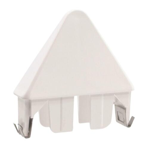 White 7//8 Inch x 3 Inch Vinyl Sharp Point Picket Fence Caps Pack of 6