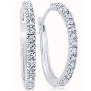 1-2-ct-Diamond-Hoops-White-Gold-1-034-Tall-Womens-Earrings
