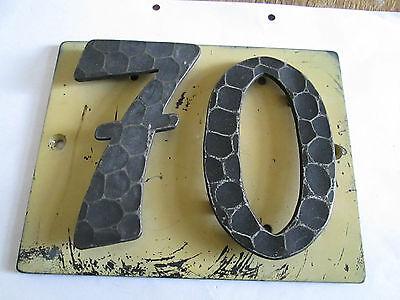 Ausdauernd Hausnummer Nr. 70 Schmiede - Eisen 17 Cm X 14 Cm Gebraucht