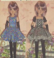 PATTERN fits Kaye Wiggs BJD Dress,Gloves,Arm-warmers Thigh-high socks sleeves