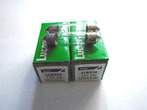 36-mm-LUCAS-SV7-8-Voiture-Feston-256-plaque-d-039-immatriculation-Interieur-Ampoules-C5W-12-V-3-W