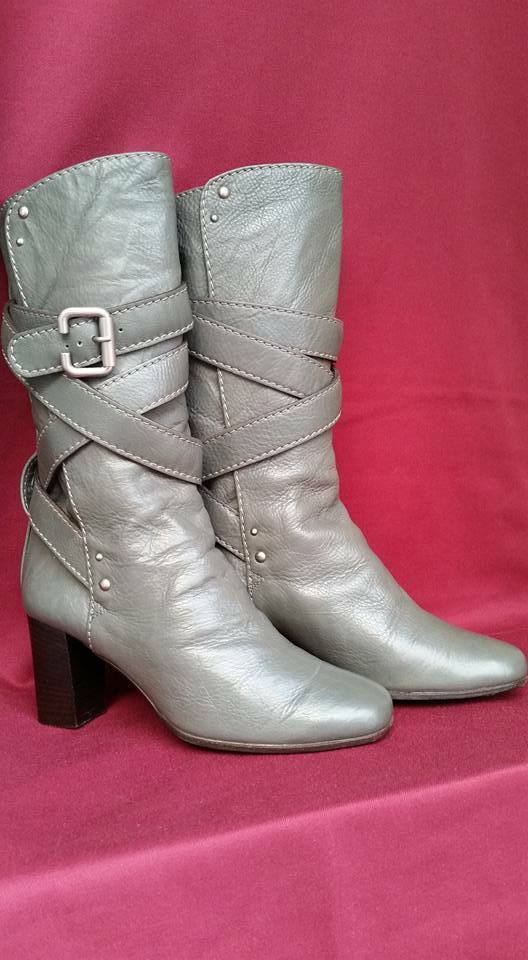 botas CHLOE  mujer gris Tg.36  100% leather PERFETTE