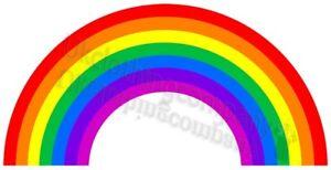cute all colours of the rainbow cartoon t shirt mens womens kids