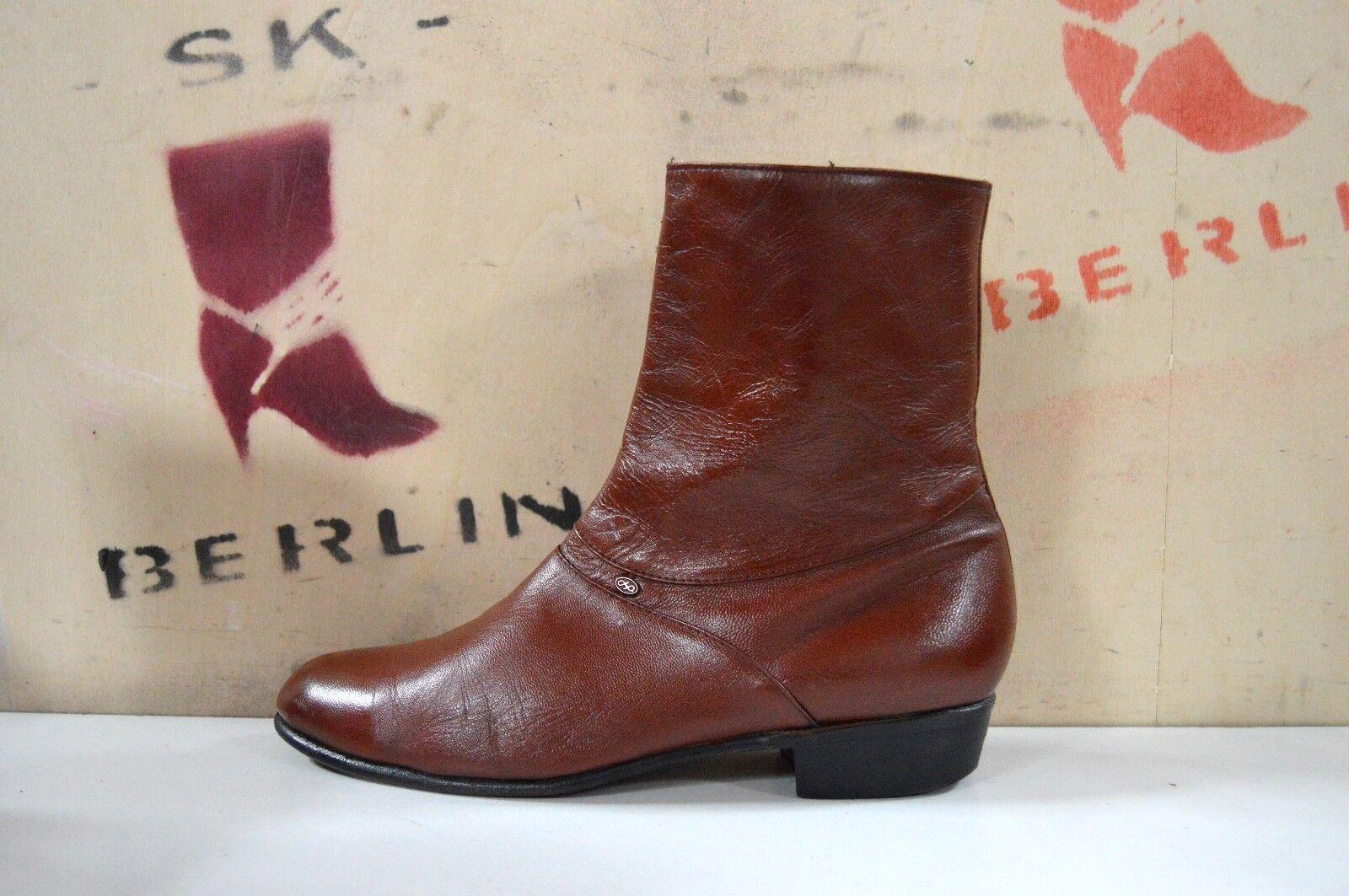 Stiefelette Boots 90er TRUE VINTAGE 90s cognac bottes Knöchelschuhe Halbstiefel
