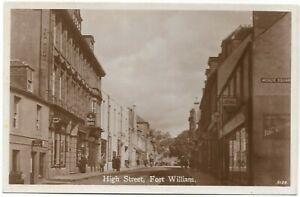 POSTCARDS-SCOTLAND-FORT WILLIAM-RP. High Street and Playhouse Cinema.