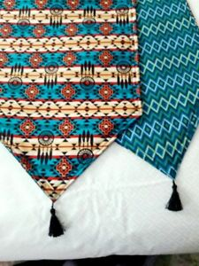 Details About Southwestern Table Runner Handmade 72x14 Reversible And Padded