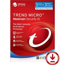 Trend Micro Titanium Maximum Security 11 2017 3 Year 3 PC Mac Smartphone License