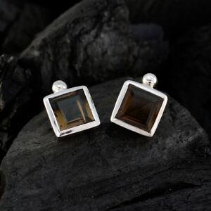 ideale-Rauchquarz-925-Sterling-Silber-Brown-natuerliche-Edelsteine-DE-Geschenk