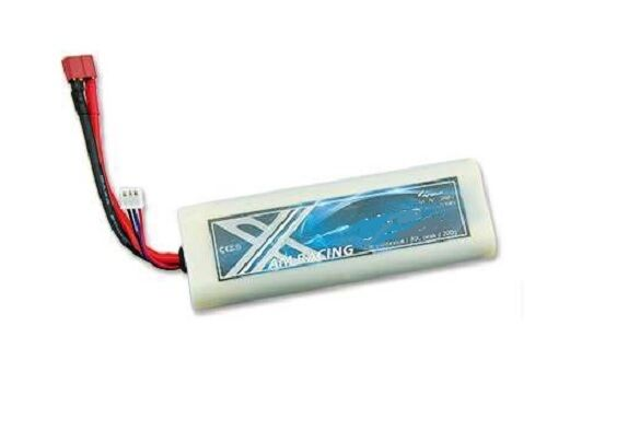Lipo batería 2s 7,4 voltios 6500mah 55c Dean conector estuche duro nuevo