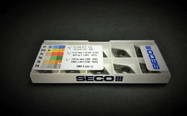 Seco 10pcs DCMT 32.51-F1,TP2500 Carbide Inserts DCMT 11T304-F1,TP2500