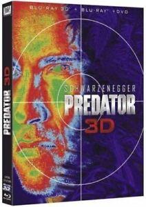 Blu Ray 3D + 2D + DVD : Predator - Arnold Shwarzenegger - NEUF