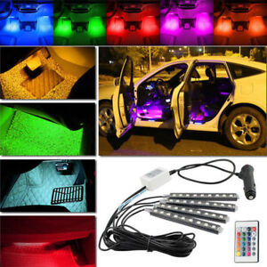 Details About Led Glow 4pc Multi Color Interior Dash Footwell Accent Truck Lights Kit