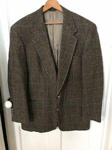 Nice Vintage Austin Reed Herringbone Brown Wool Sport Coat Jacket Blazer Mens 42 Ebay