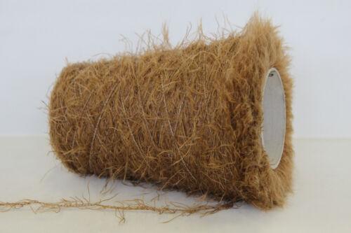 C04 1,9 Zwirn Wolle Fransen 250g 81/% SUPER KID MOHAIR NUSSBRAUN 67,96€//kg