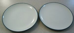 SET-OF-2-NORITAKE-COLORWAVE-BLUE-DINNER-PLATES-Blue-White-Stoneware-10-5-8-034