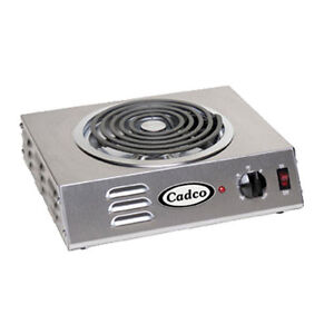 "Cadco CSR-3T Electric Portable Hot Plate with One 8"" Tubular Burner"