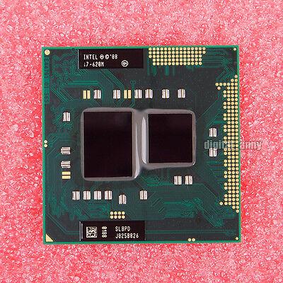 Intel Core i7-620M Dual-Core Socket G1 Laptop CPU Processor SLBPD 2.66GHz